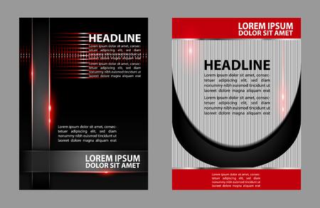 book spreads: Vector Brochure design Flyer Layout