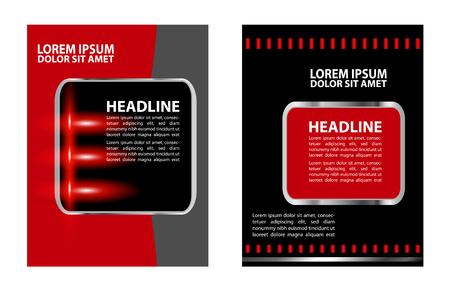 bundle of letters: flyer design Illustration