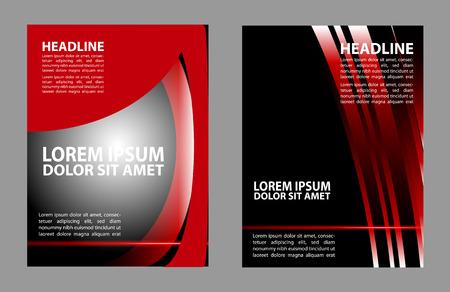 trendy: trendy modern flyer Illustration