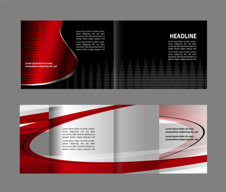 Vector brochure, flyer, magazine cover & poster template. Two (2) Pages