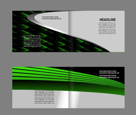 bi: Professional business flyer template bi fold Illustration