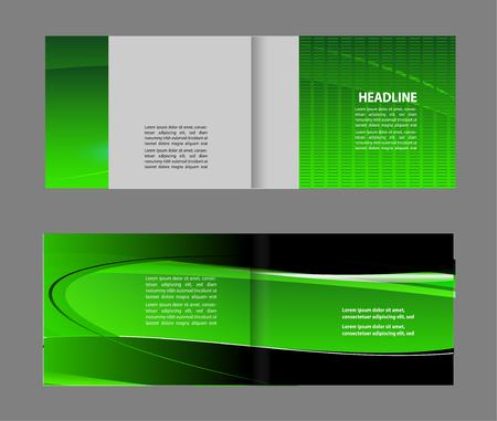 coworker banner: Bi-Fold Corporate Business Store Brochure Design Mock up & Illustration