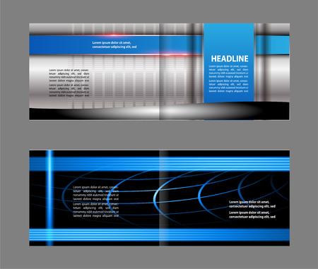 book spreads: Vector brochure template design elements empty