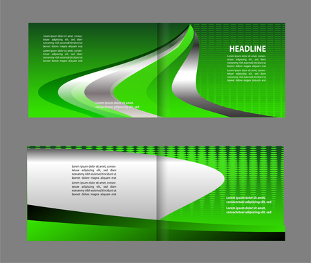 office party: Vector illustration Corporate Brochure Fold bi