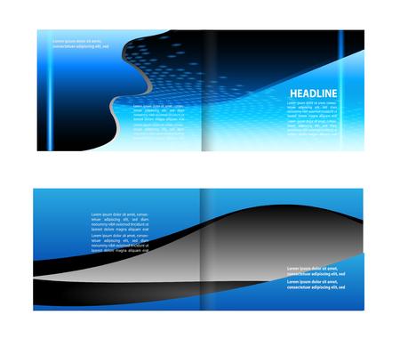 futuristic nature: Professional business flyer, corporate brochure design template