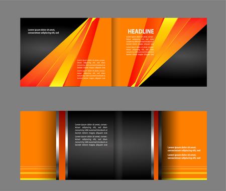 magazine stack: Bi-fold brochure design templates, business leaflet, booklet
