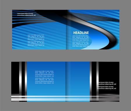 gender identity: Bi-Fold Brochure Design Mock Up Illustration