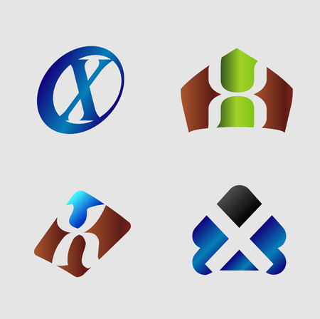 xy: Letter X. Business vector illustration
