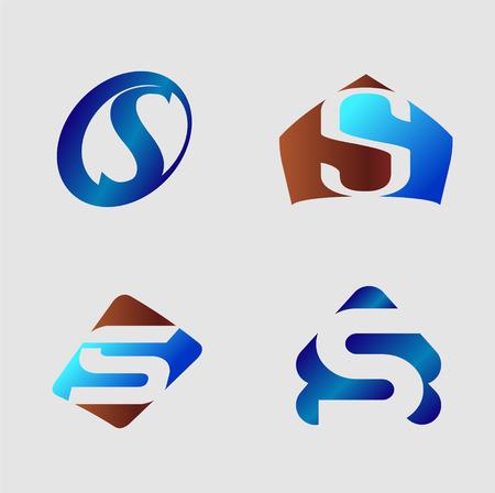 set symbols: Letter S. Business vector illustration