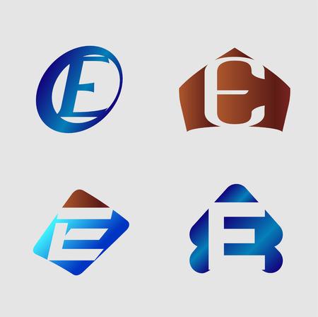 e business: Letter e. Business vector illustration