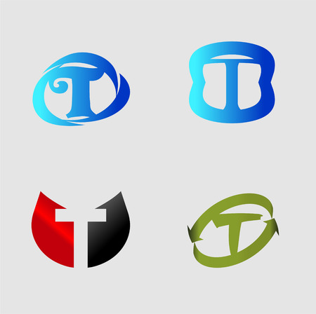 labirinth: Vector alphabet Letter T design element template