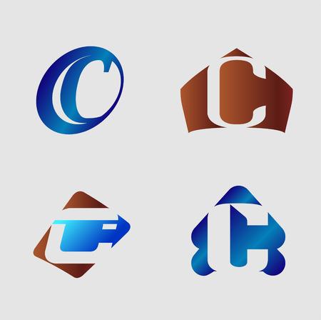 letter c: Letter C  vector illustration