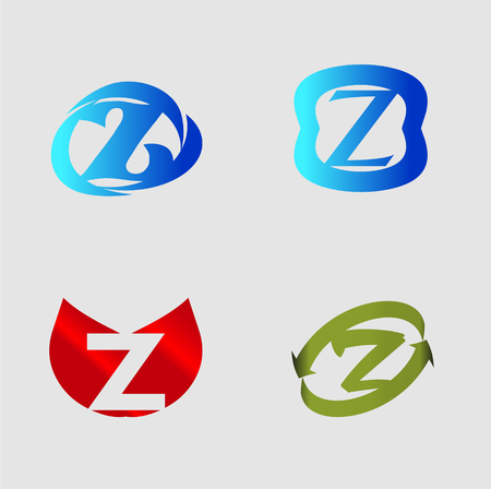 Letter Z alphabet vector design template element