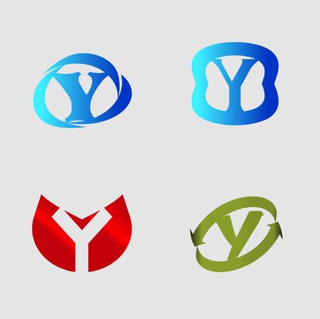 labirinth: Letter Y alphabet vector design template element