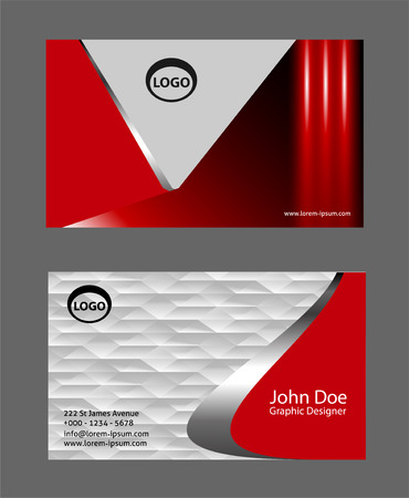 sullen: red business card template