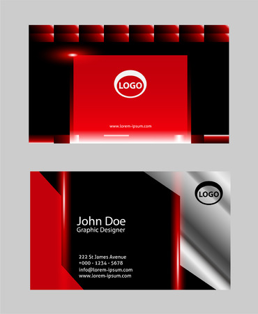 Professional business card or visiting card set set royalty free professional business card or visiting card set set stock vector 58876765 reheart Gallery