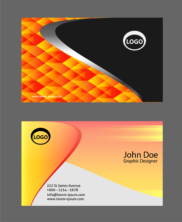 calling art: Orange business card template