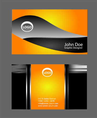 name calling: Business card vector