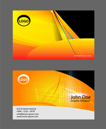 uni: Modern simple business card light