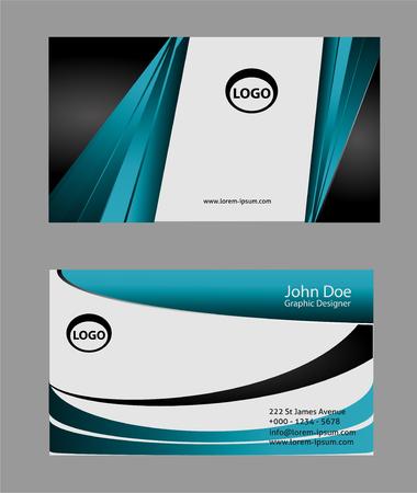 are modern: Modern business card design Illustration