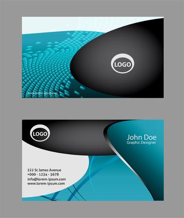 aerodynamic: Abstract elegant black business card template Illustration