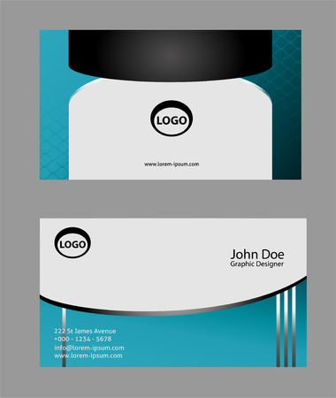 horizontal: Horizontal abstract business cards