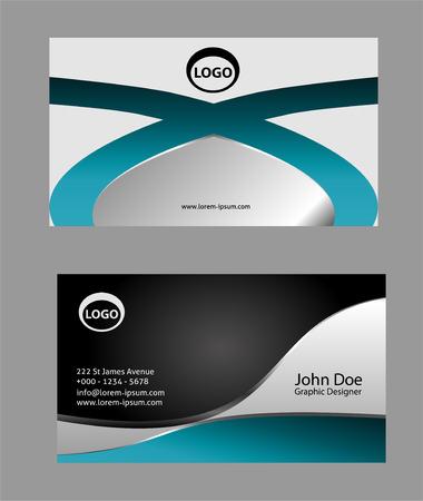 modern business: Modern simple business card light