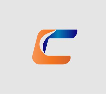 Icône de lettre C logo modèle éléments de conception