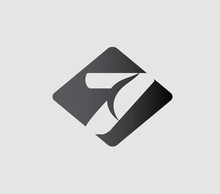 number 7: Number 7 logo. Vector logotype design