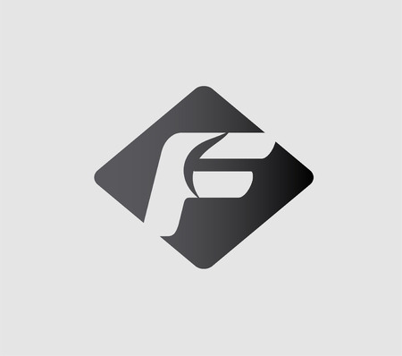 based: Abstract icons based on the letter f Illustration