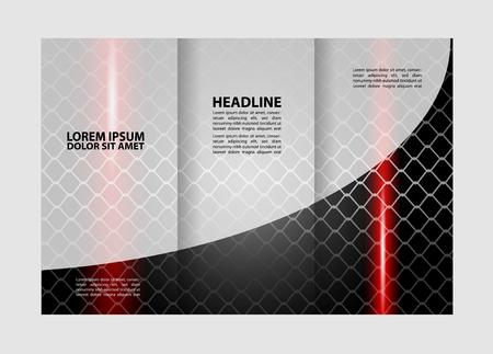 book spreads: Tri-Fold Corporate Business Store Brochure Design Mock up &