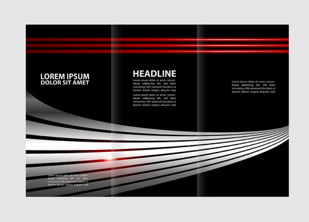 reference: Tri-fold brochure empty vector template design print, booklet or flyer trifold