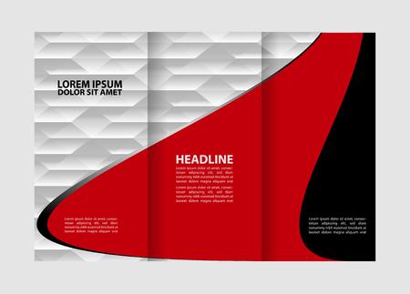 the publisher: Tri-fold brochure empty vector print design template, tri-fold booklet or flyer bright Illustration