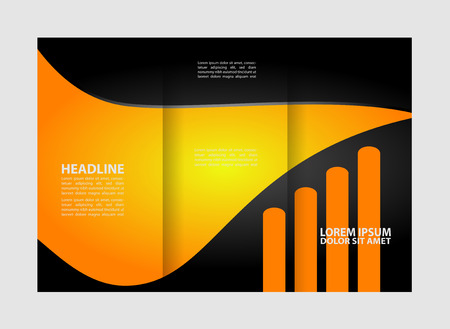 spreads: Tri-fold brochure Vector modern design template