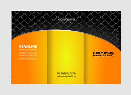 magazine stack: Professional Business Trifold Brochure, Flyer design template or with free space for your image.
