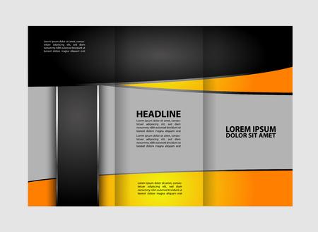 reference: Tri-fold Brochure Design Beauty Salon and Catalog Vector Template Illustration