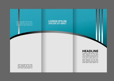 coworker banner: Tri fold brochure template business