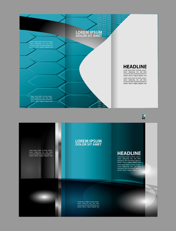 coworker banner: Tri-fold Brochure Template Concept Design and Catalog Vector