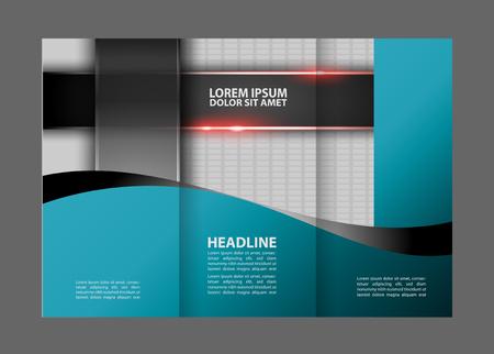 book publisher: Tri-fold brochure Vector modern design template