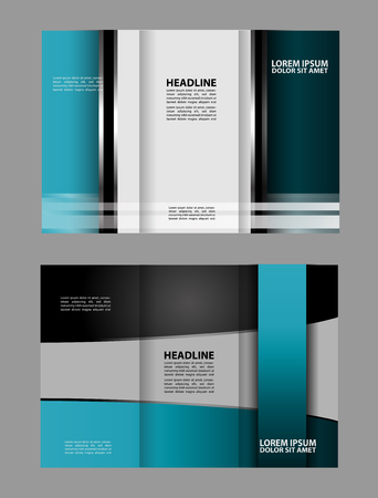 technologic: Black and blue template for advertising brochure