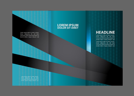 invitation barcode: brochure tri-fold design template vector