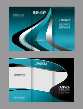 magazine stack: Tri-fold brochure Vector modern design template
