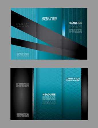 fold: Tri fold brochure template business