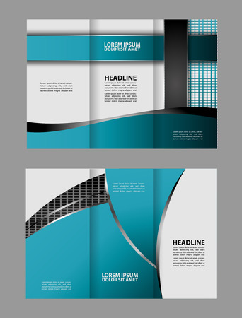 Tri Fold Brochure Template Business Royalty Free Cliparts Vectors