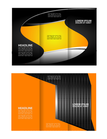 Professional three fold business flyer template, corporate brochure or cover design, can be use for publishing, print and presentation. Illustration