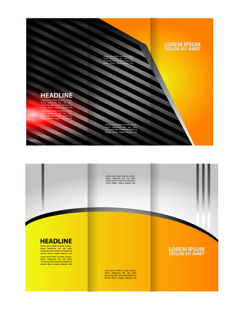 magazine stack: brochure template