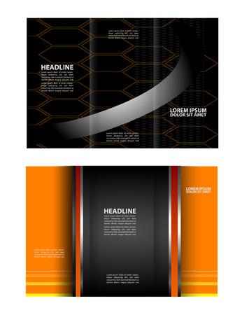 magazine stack: Abstract vector background for brochure or leaflet Illustration
