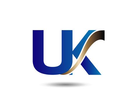 u k: letter U and K.