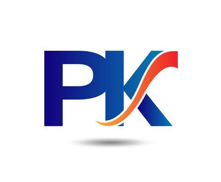letter template P and K. Vektoros illusztráció