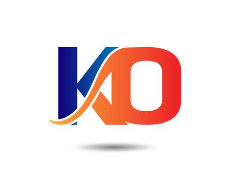 ko: Letter KO Illustration